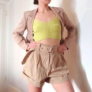 Khaki Shorts Suit